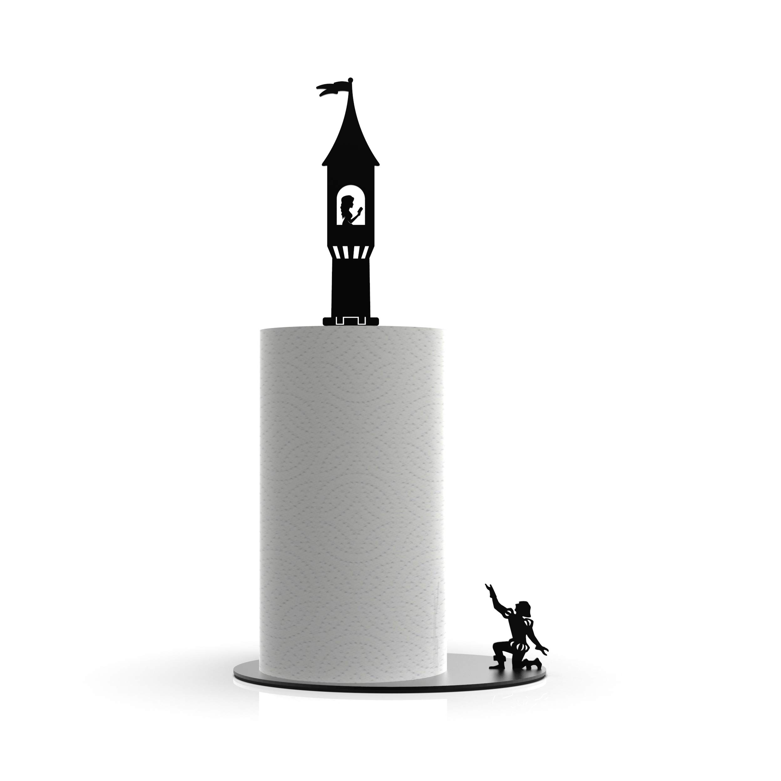 Paper Towel Stand Holder - The Princess in the Towel - Cute Design Rack | Perfect Gift by Artori Design