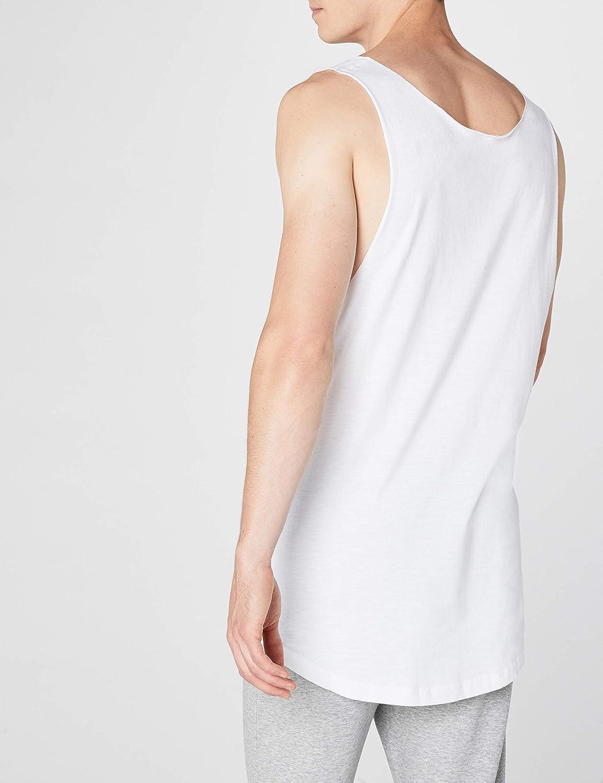 Urban Classic Men Overwear//Tank Tops Long Shaped Open Edge Loose