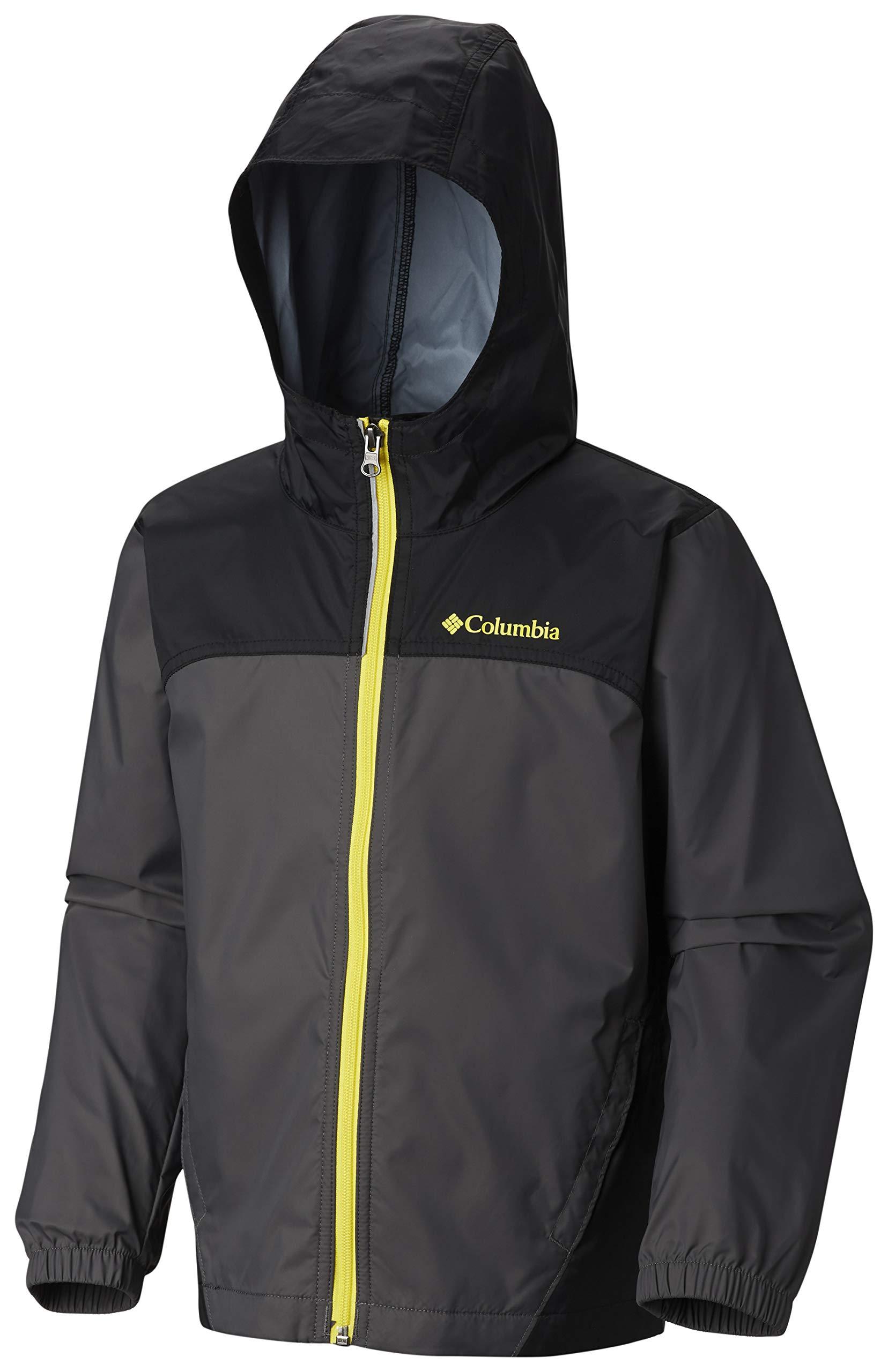 Columbia Boys' Little Glennaker Rain Jacket, Grill/Black X-Small by Columbia (Image #3)