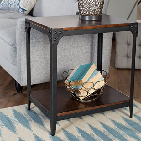 Belham Living Trenton Industrial End Table – Espresso