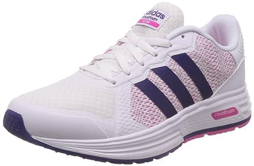 online store 4df1d 21bac adidas Cloudfoam Flyer W, Zapatillas de Deporte para Mujer, Blanco  (FtwblaPuruniPlamat), 38 EU Amazon.es Zapatos y complementos