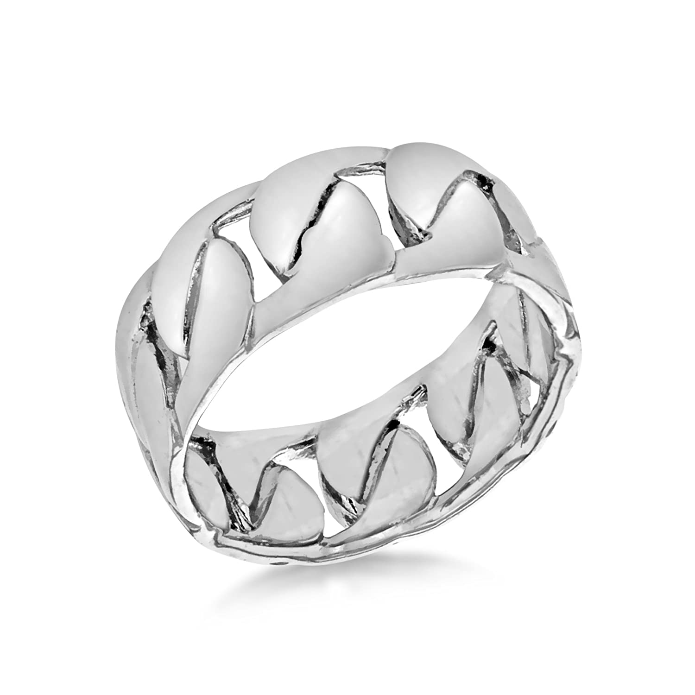 Tuscany Silver Herren Rhodium gewebter Ring Sterling Silber: Amazon ...