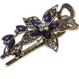 TOOGOO(R) Belle bijoux Vintage Cristal Barrettes des Cheveux Epingles a cheveux- Pour Barrette Beaute Outils