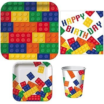 Bausteine Geburtstag Party Liefert Paket Enthalt Abendessen Teller