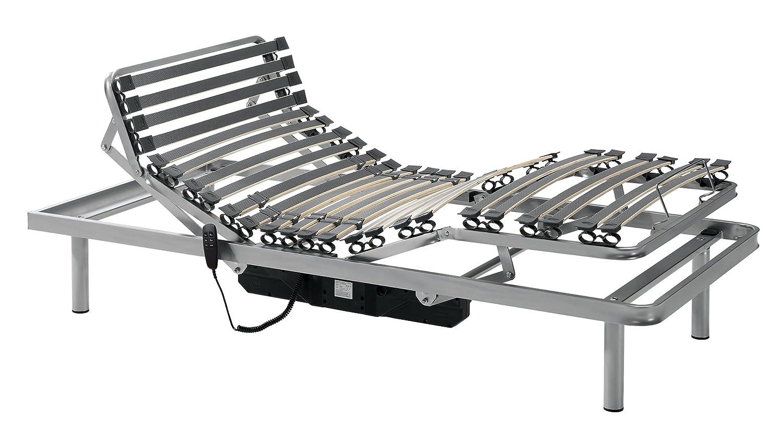 Gerialife® Cama Articulada Eléctrica Reforzada (80x200, Plateado): Amazon.es: Hogar