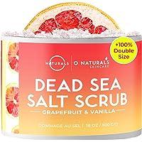 Dead Sea Salt Natural Organic Exfoliating Grapefruit Essential Oil Face Body & Foot Scrub. Hydrating, Firming, Exfoliate…