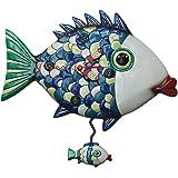 "Allen Designs ""Fishy Lips"" Whimsical Pendulum Wall Clock"