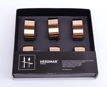 6 Servilleteros/Napkin Holders en Copper/cobre de herdmar