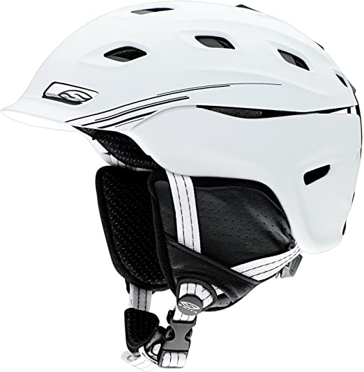 507795b7b66ea Smith Optics Unisex Adult Vantage Snow Sports Helmet - Matte White Small  (51-55CM