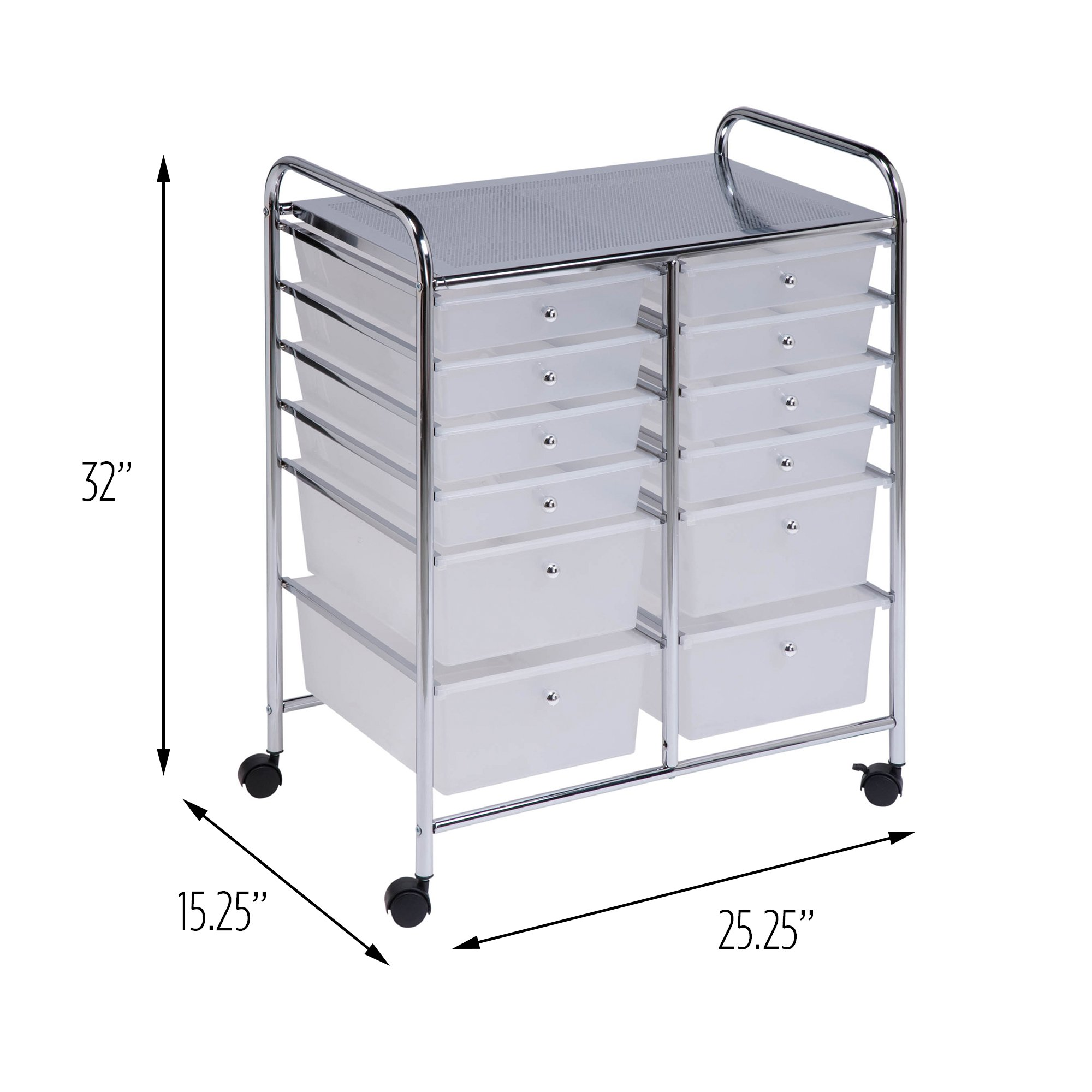 honey can do rolling storage cart and organizer with 12 plastic drawers 692761172562 ebay. Black Bedroom Furniture Sets. Home Design Ideas