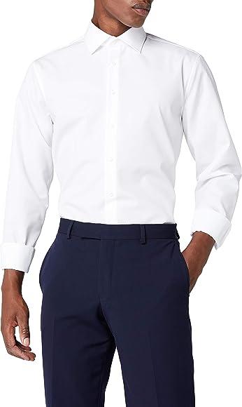 Seidensticker Schwarze Rose, Camisa de manga larga para Hombre, Blanco (Blanco 01), 37: Amazon.es: Ropa y accesorios