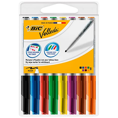 Amazon.com : BIC Velleda 1741 Whiteboard Markers Assorted ...