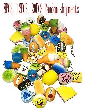 Junshan Espuma de poliuretano juguetes explosion modelos de explosión blanda lento rebote simulación alimentos llavero artesanía
