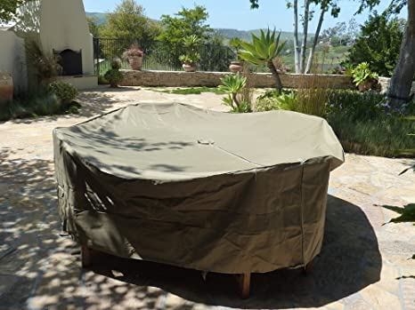 Beau Patio Set Cover 104u0026quot;Dia. Fits Square, Oval Or Round Table Set,