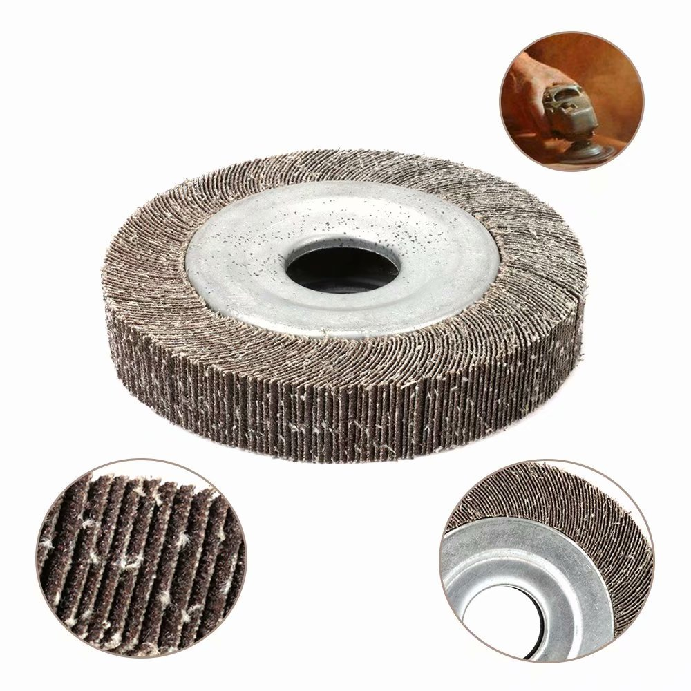 6 inch 400 Grit Sanding Flap Wheel Polishing Disc Abrasive for Grinding Derusting of Metal, Automobile Manufacturing and Aluminum Alloy 25mm Bore