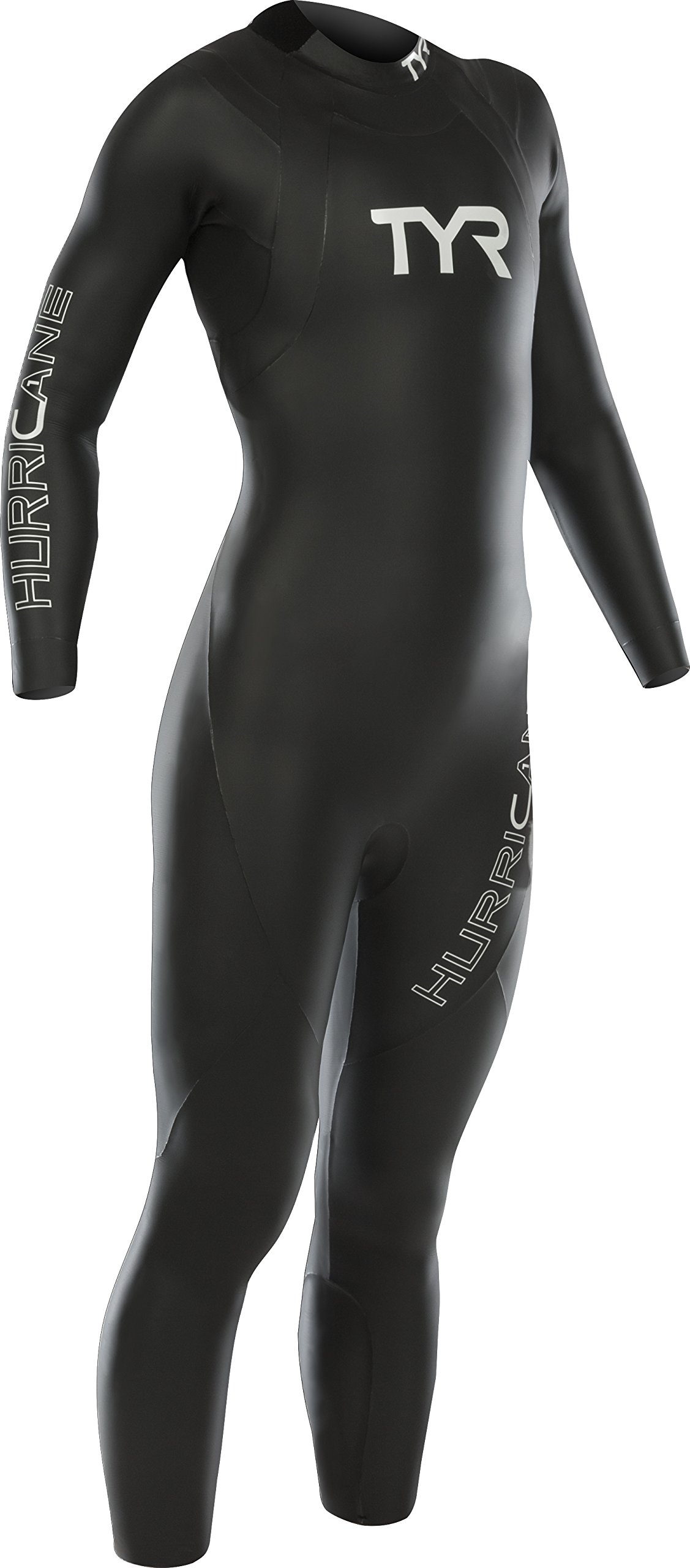 TYR Women's Hurricane Wetsuit Category 1, Black/White, X-Small