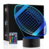 Rugby 3D Illusion Birthday Gift Lamp, Gawell 16