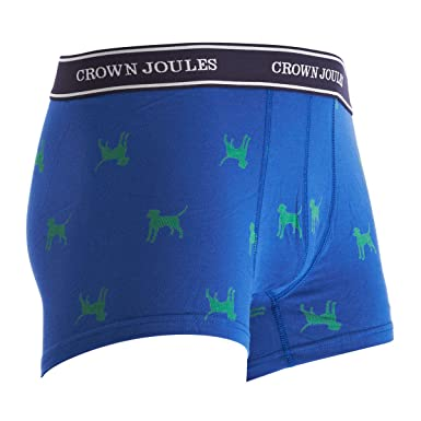 Joules Mens Crown Printed Underwear in Dog Style