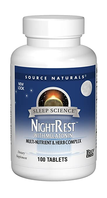 Source Naturals Sleep Science NightRest Multi-Nutrient & Herb Complex With Melatonin, GABA,