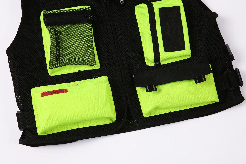 XXL, Black Scoyco JK46 Motorcycle Auto Racing Vest Men Motocross Jacket Protective Gear