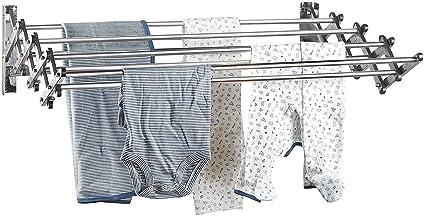 Amazoncom Smartsome Stainless Steel Accordion Wall Mount Laundry