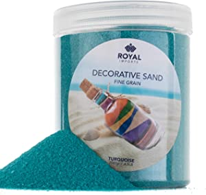 Royal Imports 4.5 LBS Colored Decorative Beach Sand for Vase Filler, Wedding, Home Décor, Crafts and Therapy Play, Torquise Blue