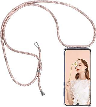 /Ètuis /à Bandouli/ère ZhinkArts Collier pour Samsung Galaxy S7 Edge Coque pour Smartphone Blanc//Argent avec Mousqueton /Étui de T/él/éphone avec Cordon