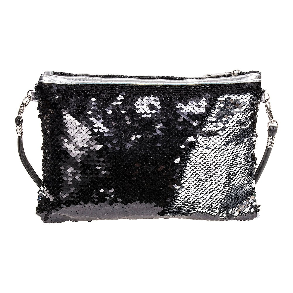 Blue Banana Two Way Sequin Clutch Bag
