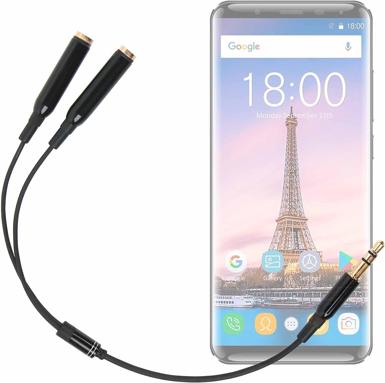 DURAGADGET Práctico Divisor De Auriculares para Smartphone OUKITEL K5000: Amazon.es: Electrónica