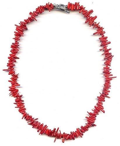 nouveaux styles 84655 e969a Collier de 44cm composé de Branches de Corail rouge: Amazon ...