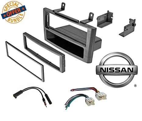 amazon com: car stereo grey dash kit wire harness antenna for 2000-2003 nissan  maxima w/wiring harness antenna: car electronics