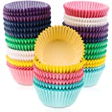 Selizo 700 pcs Multicolor Muffin Cupcake Liners Baking Cups No Smell Safe Food Grade Inks and Paper Grease Proof Cupcake Liners for Muffins, Cupcakes, Cake Balls, and Candies