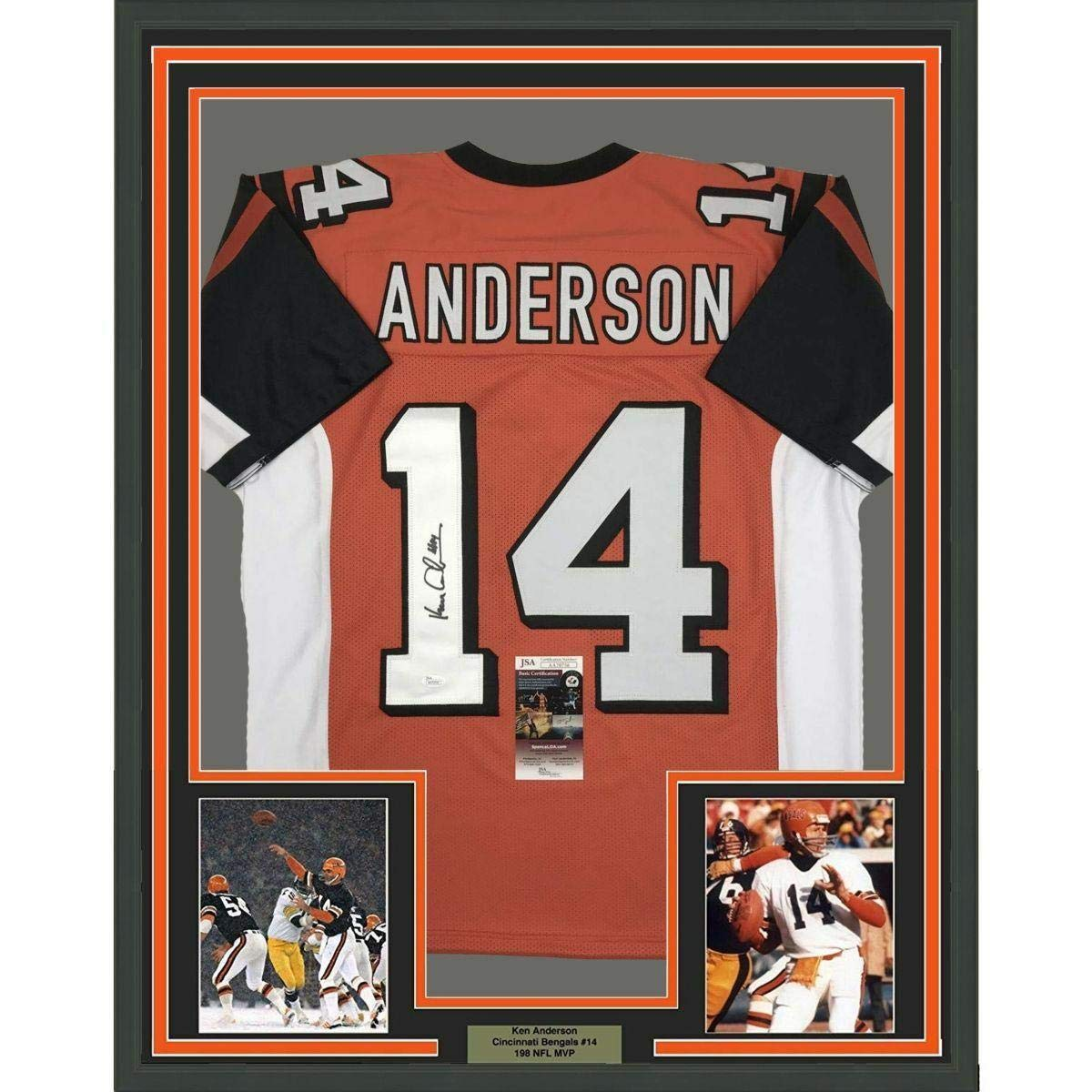 Autographed Ken Anderson Jersey - FRAMED 33x42 Orange COA - JSA Certified - Autographed  NFL Jerseys at Amazon s Sports Collectibles Store 96bbdb9b7
