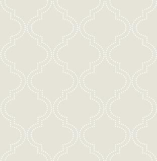 NuWallpaper by Brewster NU1424 Blue Quatrefoil Peel /& Stick Wallpaper