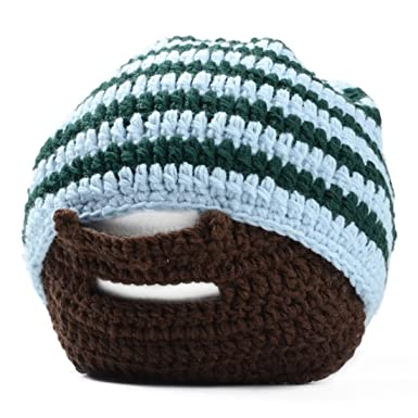 986da06d292 Beard Hat - SODIAL(R) Handmade Knitted Crochet Beard Hat Bicycle Mask Ski  Cap