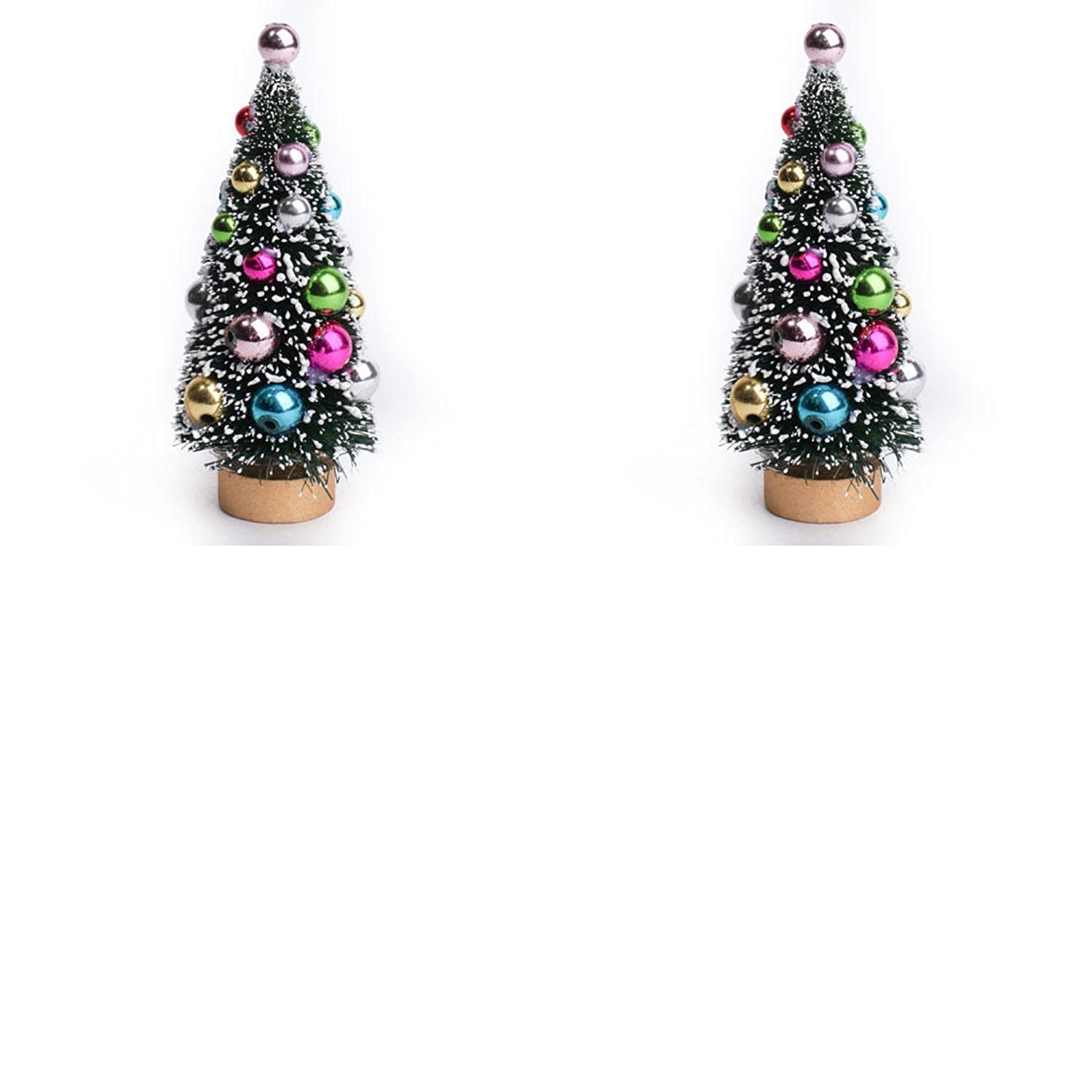 and Designs for Christmas and Holidays Crafts Factory Direct Craft Frosted /& Decorated Mini Green Sisal Christmas Tree for Displays