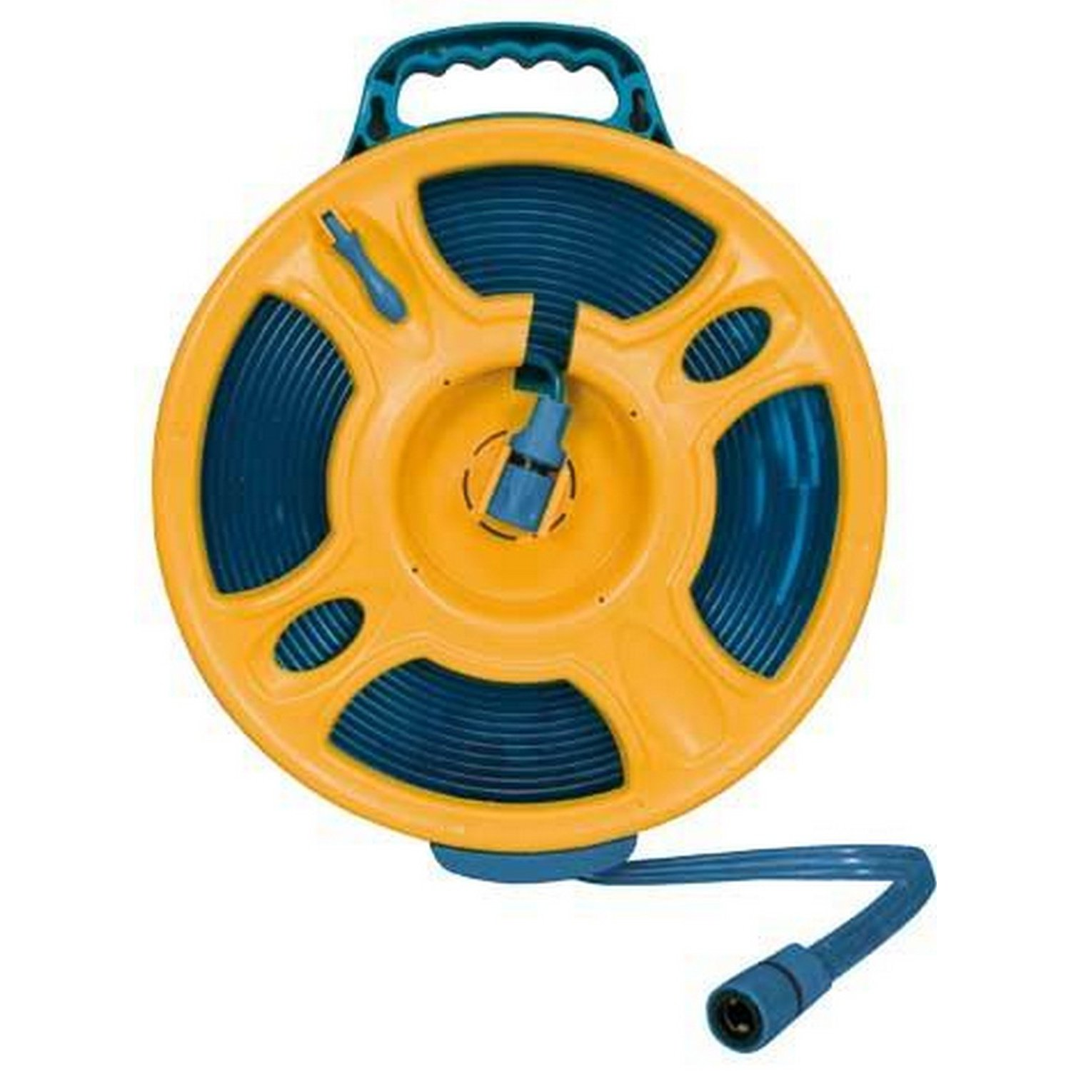 Brunner 15m/49.2ft Flat Hose Reel Roll (One Size) (Blue/Yellow)