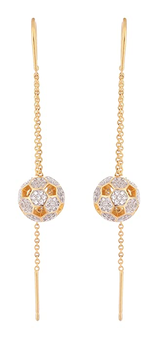 Buy Jewel Crown Gold Plated Cz Sui Dhaga Earrings For Women Jc E 96