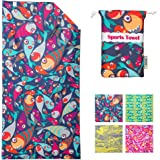 4Monster Microfiber Beach Towel for Travel Quick Dry Super Absorbent Lightweight Towel for Swimmers, Sand Free Towel…