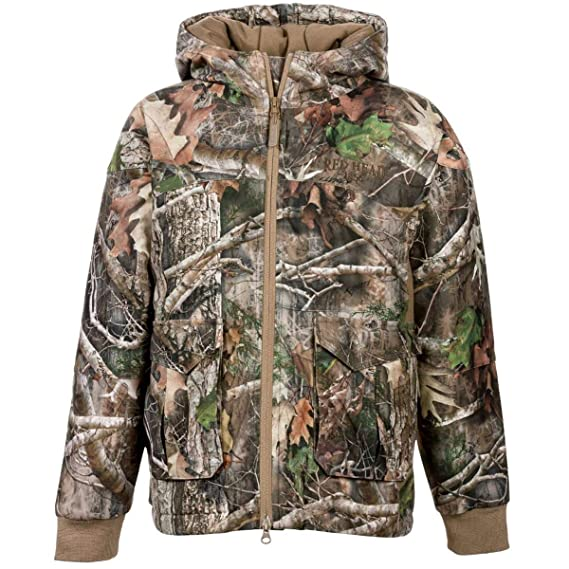 55d048c450a30 Kids Stalker Youth Camouflage Padded Waterproof Jacket: Amazon.co.uk:  Clothing
