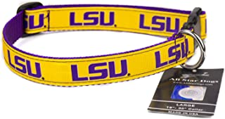 product image for All Star Dogs LSU Tigers Ribbon Dog Collar
