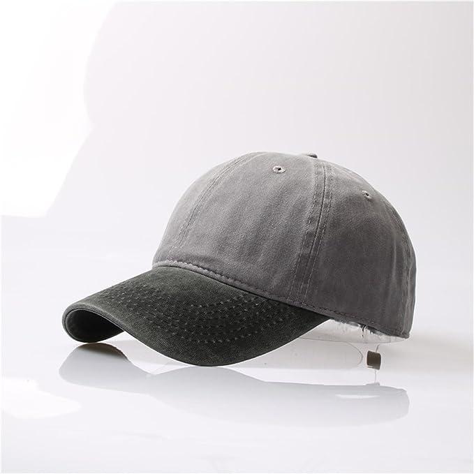 Meaningg Washed Denim Snapback Hats Otoño Verano Hombres Mujeres Gorra de béisbol Golf Sunblock Hat 2: Amazon.es: Ropa y accesorios