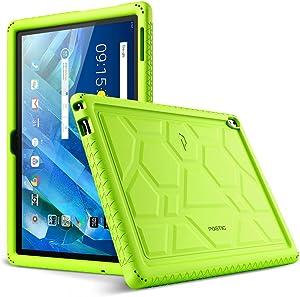 Lenovo Moto Tab Case, Poetic TurtleSkin Series [Corner/Bumper Protection][Grip][[Bottom Air Vents] Protective Silicone Case for Lenovo Moto Tab (X704A)/Lenovo Tab 4 10 Plus Tablet - Green