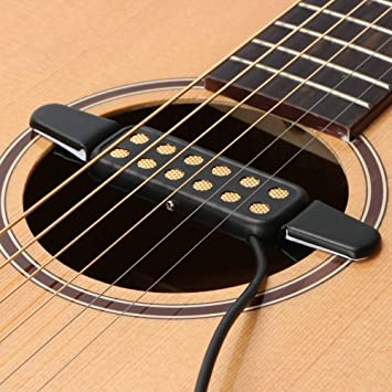 Sguan-wu KQ-3 Guitarra acústica clásica Agujero de sonido Clip para Tonabnehmer Humbucker Verstärker - Schwarz: Amazon.es: Instrumentos musicales