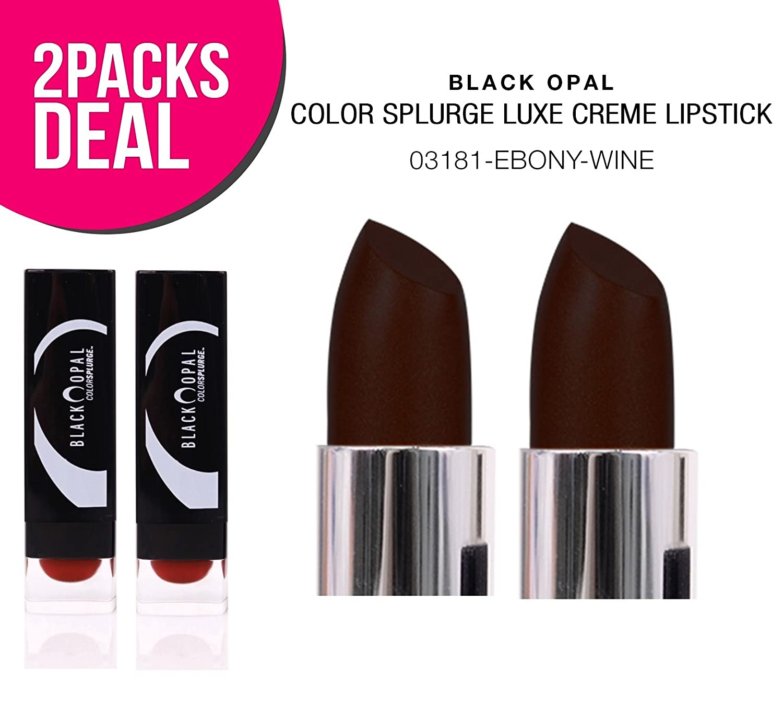(2 PACK) Black Opal Color Splurge Luxe Creme Lipstick (03181-Ebony Wine)