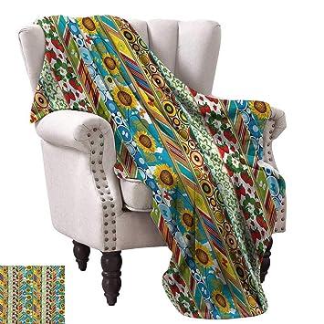 Amazon.com: Luckyee Digital Printing Blanket,Colorful Summer ...