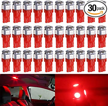 194 2825 T10 High Power Blue License Plate LED Bulbs One Pair set of 2pcs