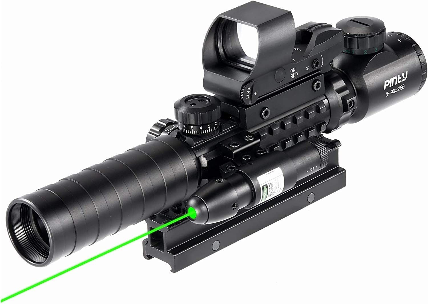 Pinty Rifle Scope 3-9x32 Rangefinder Illuminated Reflex Sight