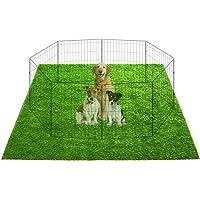 TSIANHUZY - Parque de juegos para perros, alfombra de césped artificial, extragrande, 104,14 x 104,14 cm, impermeable…