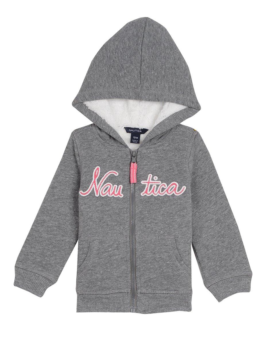 Nautica Baby Girls' Super Soft Fleece Hoody